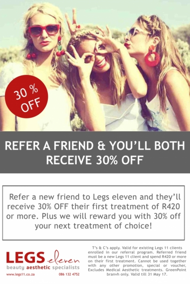Refer A Friend 30% Off Promotion